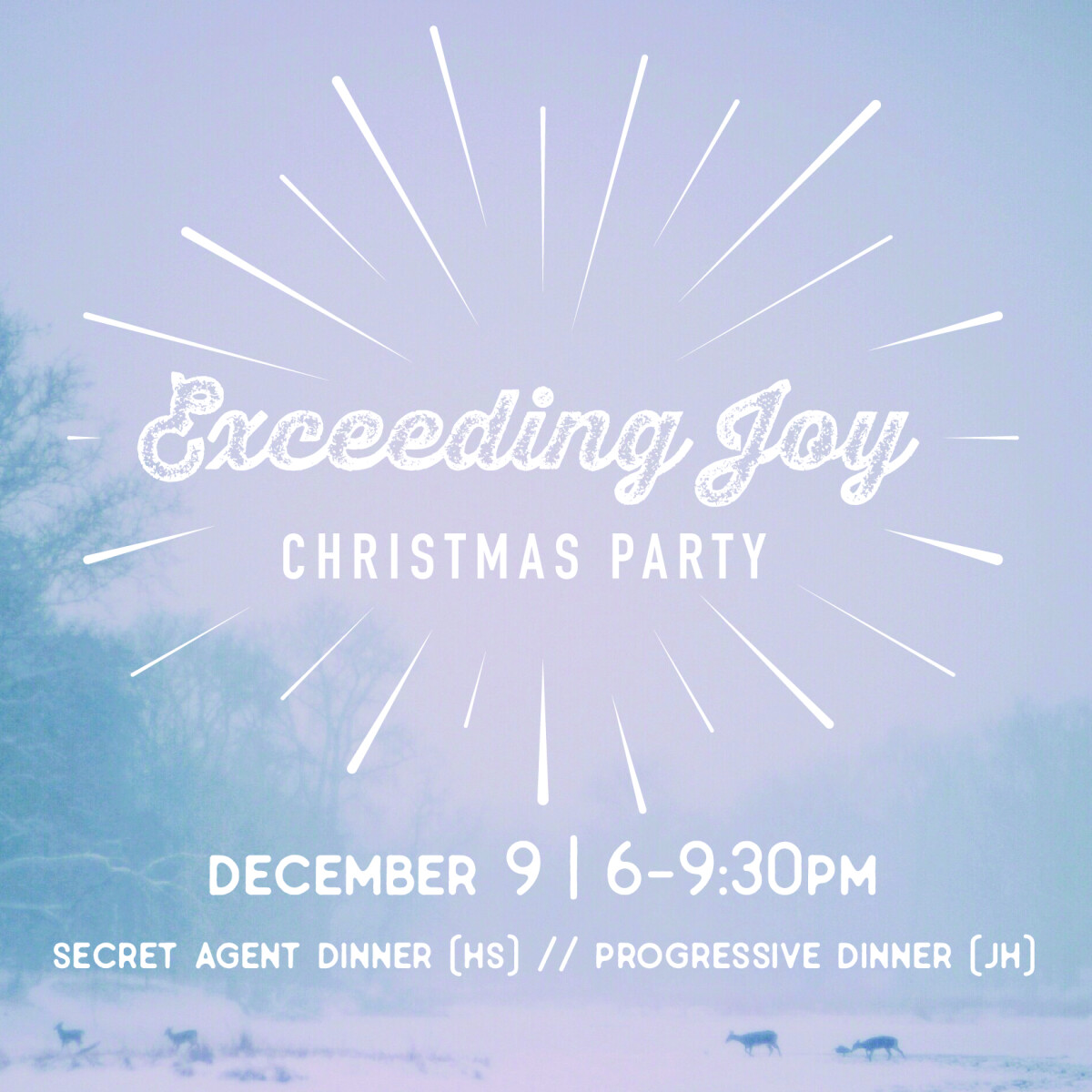 """Exceeding Joy"" Christmas Party"