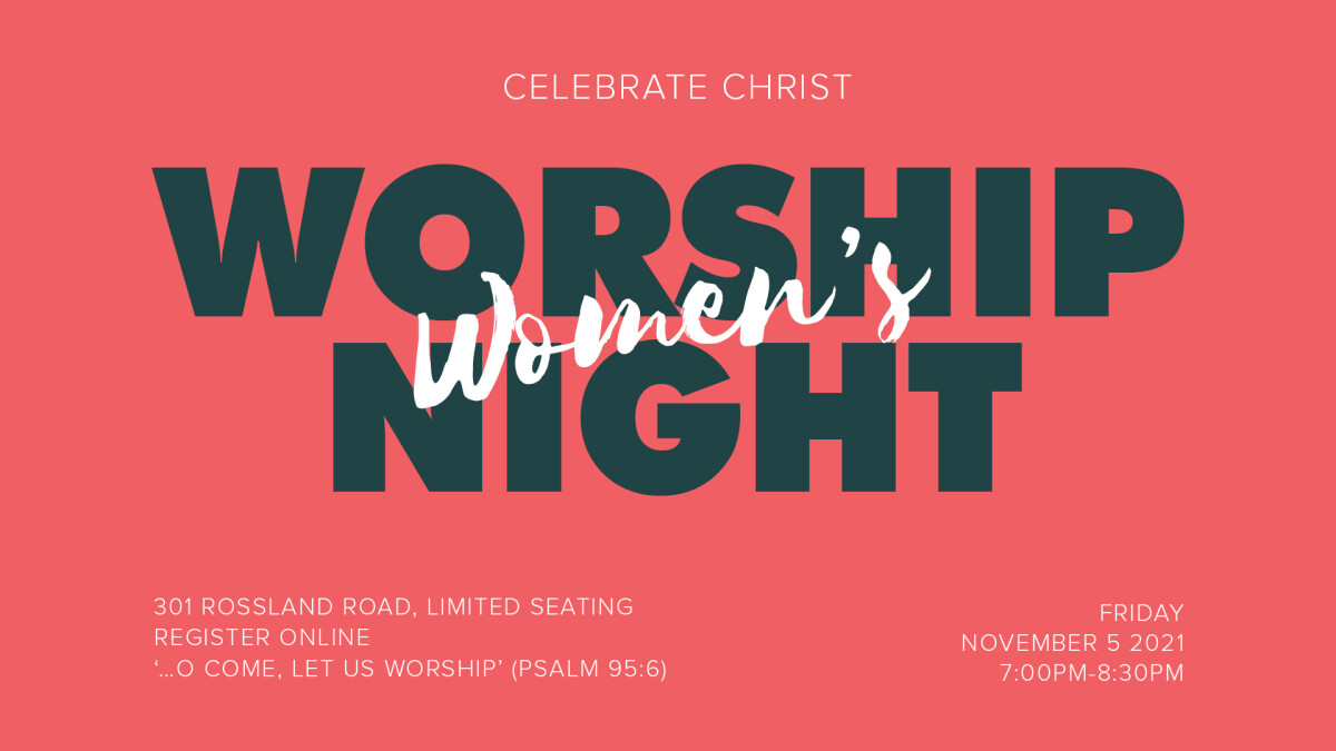 Celebrate Christ: Women's Worship Night
